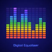 Rainbow equalizer — Stock Vector