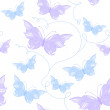 Seamless pattern with butterflies — Stock Vector #39052073