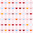 Stock Vector: Pattern with repeating hearts