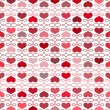Seamless background with hearts — Stock Vector #39052531