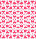 Beautiful seamless pattern with hearts — Stock Vector