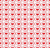 Seamless pattern with hearts in loops — Vector de stock