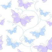 Seamless mönster med fjärilar — Stockvektor