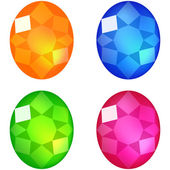 Set of colorful gems — Stock Vector