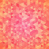 Threadbare background with triangles — Stok Vektör
