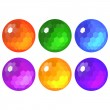 Set of faceted spheres — Stock Vector #39684379