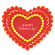 Stock Vector: Valentines heart