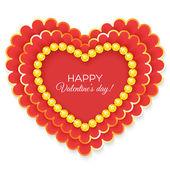 Valentines hart — Stockvector