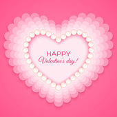 Valentines heart on pink background — Stockvector