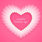 Valentines heart on pink background — Vector de stock