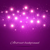 Purple Background with Lights — Stock Vector