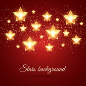 Background with Glowing Stars — Stock Vector