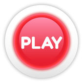 Play Button Isolated on White — Stock Vector