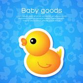 Background with Cartoon Duck — Vetorial Stock