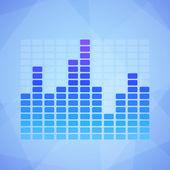 Blue Equalizer — Stock Vector
