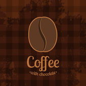 Tartan Background with Coffee Bean — Vettoriale Stock
