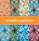 Mosaic seamless patterns — Stock Vector