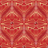 Vintage seamless pattern with red gemstones — Vector de stock
