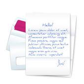 Lettre avec deux enveloppes — Vecteur