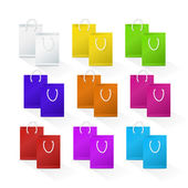Set of Blank Shopping Paper Bags — Stock Vector