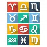 Zodiac Symbol Icons. Flat Style — Stock Vector #47669863
