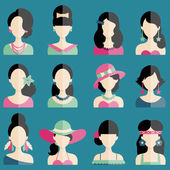 Different Women Fashion Styles — Stock Vector