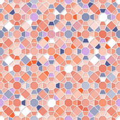 Colorful Seamless Mosaic Pattern — Stock Vector