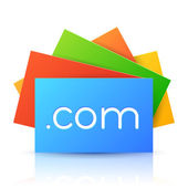 Domain Name on Colorful Cards — Vector de stock