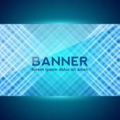 Dark Blue Digital Banner — Stock Vector