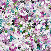 Multicolored Seamless Floral Pattern — Stock Vector