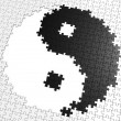 Stock Photo: Yin Yang symbol from puzzles