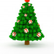 Cubic christmas tree — Stock Photo
