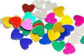 Colorful confetti hearts — Stock Photo
