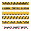 Caution tapes, Danger tapes — Imagen vectorial