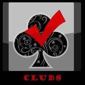 Club Card Symbol — Stock Vector