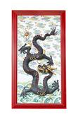 中国の寺院の壁上のドラゴン — ストック写真