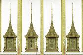 Asya tarzı penceresi Tapınak — Stok fotoğraf