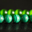 Green beads from a stone — Stockfoto