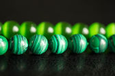 Green beads from a stone — Stock Photo