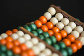 Bracelet from multi-colored wooden beads — Stockfoto