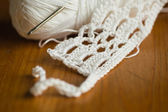 White crochet pattern — Stock Photo