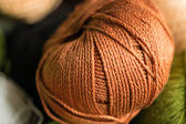 Brown yarn — Stock Photo