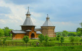 Wooden church in park Kolomesky, Moscow — Stock Photo