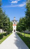 Fußweg zum kloster pazhayslissky in kaunas — Stockfoto