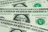 Banknotes in one American dollar — Stock Photo