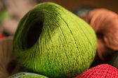 Green yarn — Stock Photo