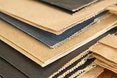 Pile från multi-färgade papper paket — Stockfoto