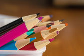 Group of color pencils close up — Stock Photo