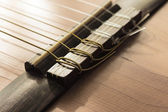 Part of an old acoustic guitar — Stock Photo