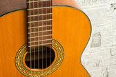 Old acoustic guitar — Stock Photo